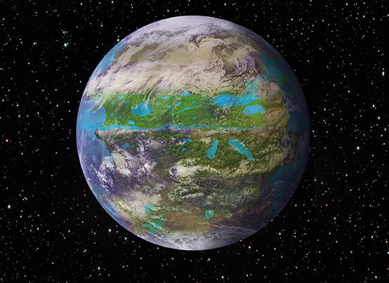 Planète Entom Boötis, illustration de Sandro Pappacoda