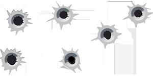 bullet-holes